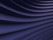Background of blue abstract waves. render Royalty Free Stock Image