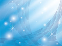 Background with blue abstraction and stars - eps Royalty Free Stock Photo