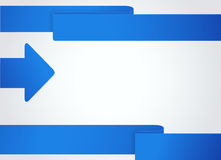 Background with blue arrow. Business banner Royalty Free Stock Photos