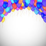 Background of blue balloons. Royalty Free Stock Photos