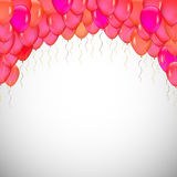 Background of blue balloons. Vector for your design Royalty Free Stock Images