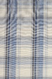 Background of Blue Plaid Cloth. High Resolution Image of Black ,Blue,and White Plaid Cloth Shot in Studio Stock Images