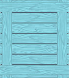 Background of blue boards with wood grain Stock Image