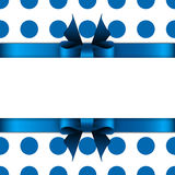 Background with blue bow Royalty Free Stock Photos