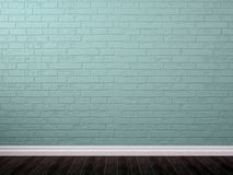 Background  of blue brick and brown parquet Stock Photos