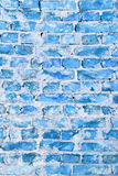 Background of blue brick wall Royalty Free Stock Photo