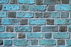 Background of blue brick wall pattern texture. Stock Image