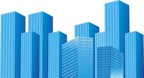 Background blue buildings Stock Photo