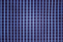 Background blue checkered cloth coarse cotton Royalty Free Stock Photography