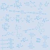 Background_blue_chemical Στοκ Εικόνα
