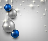 Background with blue christmas balls. Abstract background with blue christmas balls. Vector illustration Royalty Free Stock Images