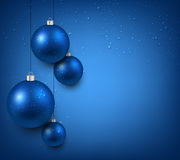 Background with blue christmas balls. Abstract background with blue christmas balls. Vector illustration Royalty Free Stock Photos