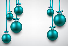 Background with blue christmas balls. Abstract background with blue christmas balls. Vector illustration Stock Image