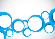 Background with blue circles Royalty Free Stock Photo