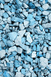 Background of blue-colored stones Stock Photography