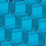 Background blue cube Stock Photos