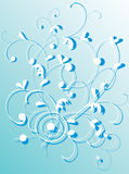 Background with blue curled pattern Royalty Free Stock Photography