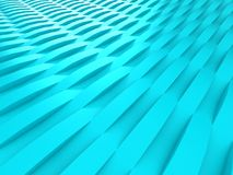 Background of blue 3d abstract waves. Render Stock Images