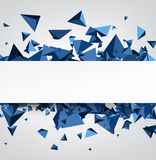 Background with blue 3d trigons. Stock Images