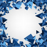 Background with blue 3d trigons. Stock Image