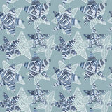 Background with blue doodle star. Stock Photography