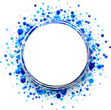 Background with blue drops. Paper round white background with blue drops. Vector illustration Royalty Free Stock Photos