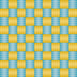 Background with blue e golden squares Stock Photos