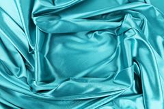 Background of blue fabric and rectangle. Royalty Free Stock Photography
