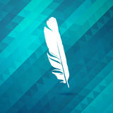 Background with blue feather stock illustration
