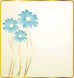 Background with blue flowers vector illustration
