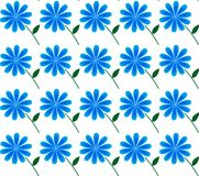Background of blue flowers, cornflower. Background of blue flowers on a white texture. pattern of flowers stock illustration