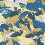 Background of blue, gray and brown feathers vector Royalty Free Stock Images