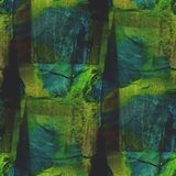 Background blue green watercolor art seamless Royalty Free Stock Photography