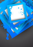 Background with blue grunge squares Royalty Free Stock Images