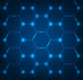 Background with blue hexagon texture Royalty Free Stock Photography