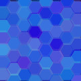 Background with blue hexagons. Raster Royalty Free Stock Photos
