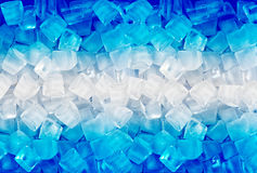 Background with blue ice cubes Stock Photography