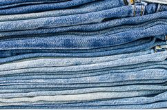 Background of blue jeans texture Stock Photography