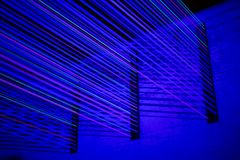Blue laser light Royalty Free Stock Photos