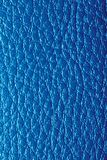 Background of blue leather. Photo of an abstract texture Stock Photo