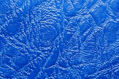 Background of blue leather. Photo of an abstract texture Royalty Free Stock Photography