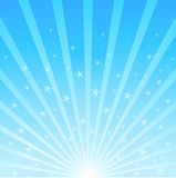 Background of blue luminous rays Royalty Free Stock Photography