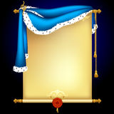 Background with blue mantle Royalty Free Stock Images