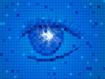 Background Blue Means Human Eye And Design Stock Image