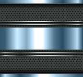 Background blue metallic. With aluminum metal plate bars, vector vector illustration