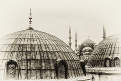 background for the blue mosque in istanbul stock images