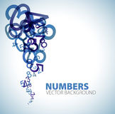 Background with blue numbers stock illustration