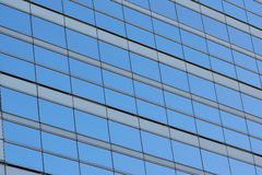 Background blue office glass windows Stock Image
