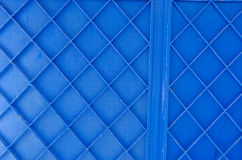 Background of blue painted metal gate Stock Image