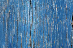 Background from blue painted old wooden boards Stock Photography